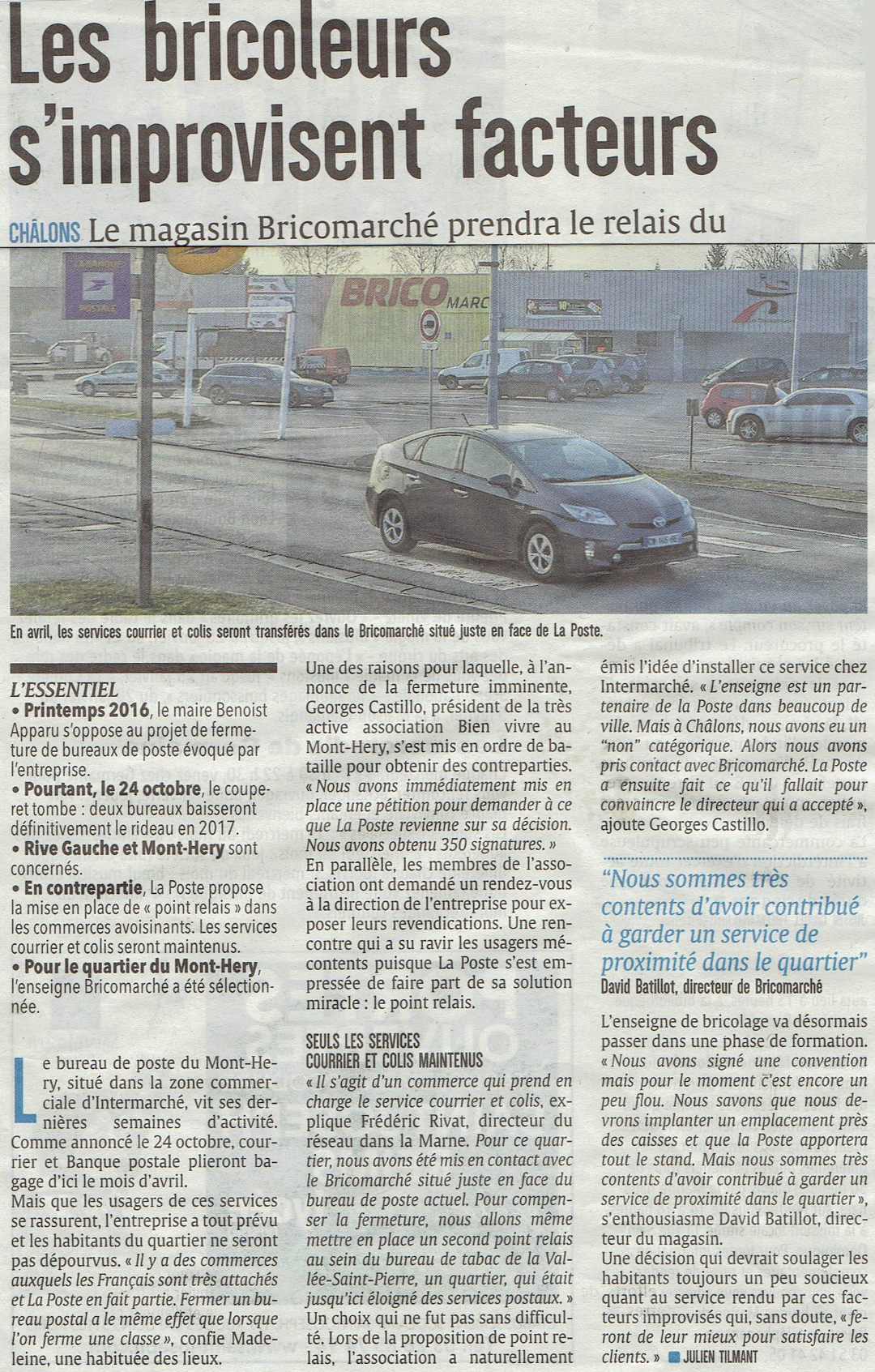 Article du journal l'Union